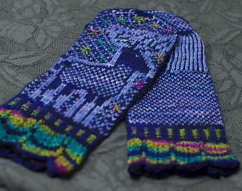 Knit Embroidery Mittens - JuJu Vail